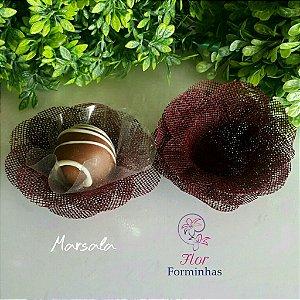 50 Formas para doces Camelia  Marsala F011