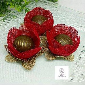 25 Formas para doces - Botão Camelia Vermelho - F018