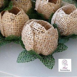 100 Formas rusticas para doces - Botão Juta Fios Dourados - F019