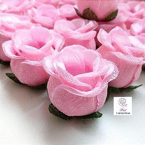 25 Forminhas para doces Flor Botão Rosa - Rosa Bebê  - F044