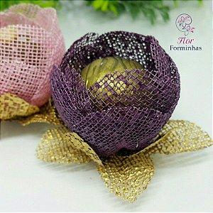 25 Formas para doces - Botão Camelia Rosê - F018