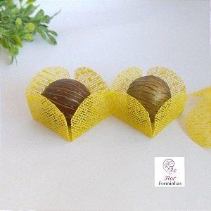 25 Formas para doces - Caixeta Amarelo - F002