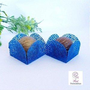 25 Formas para doces -Caixeta Azul Royal - F002