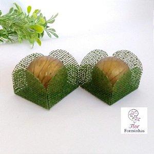 50 Formas para doces - Caixeta Verde Floresta -F002