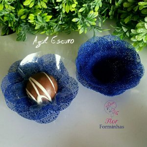 50 Formas para doces Camelia - Azul escuro - F011