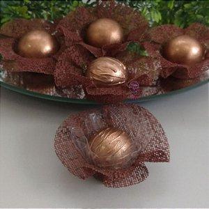 50 Forminhas Cestaflor Chocolate F000