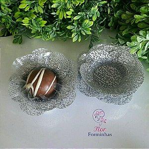 50 Formas para doces Camelia Prateado - F011
