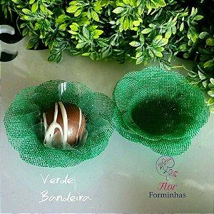 50 Formas para doces Camelia Verde Bandeira F011