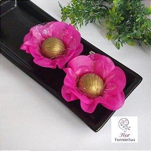 50 Forminhas Flor Primavera Papel Pink - F012