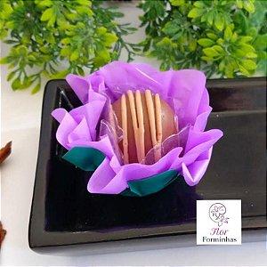 50 Forminhas Flor Primavera G Lilas - F038