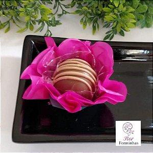50 Forminhas Flor Primavera G Pink - F038