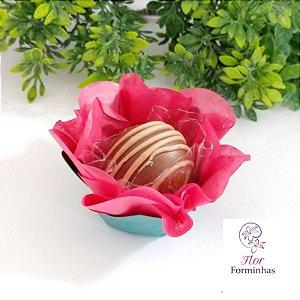 50 Forminhas Flor Primavera G Goiaba - F038
