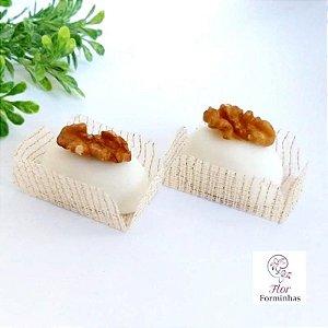50 Formas para doces para camafeu - Branco Fio Dourado - F017