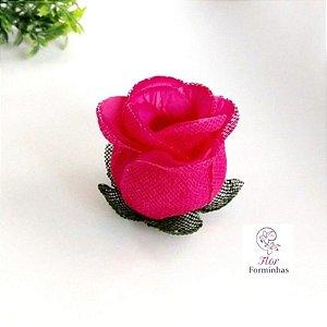 25 Forminhas para doces Flor Botão Rosa - Pink  F044