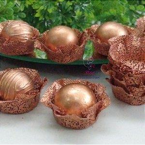 50 Forminhas Cestinha Rose Gold / Bronze F026