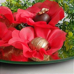 25 Forminhas Flor Primavera Vermelho F016