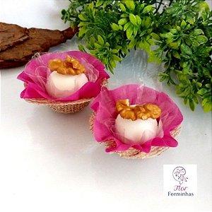 50 Forminhas Cestinhas Rusticas Rosa Primavera F025