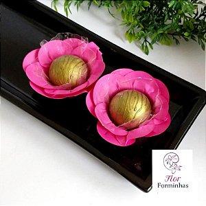 50 Forminhas Camelia Dupla Papel Pink F049