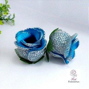 25 Forminhas para doces Flor Botão Rosa Azul Turquesza F054