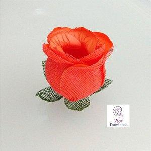 25 Forminhas para doces Flor Botão Rosa-  Coral F044