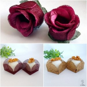 Kit Forminhas Para Doces Luxo Botao De Rosa Casamento MARSALA