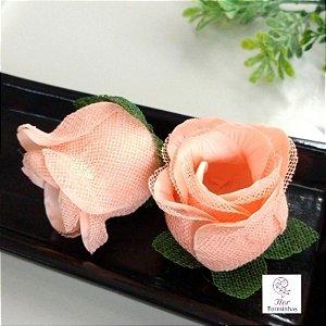 25 Forminhas para doces Flor Botão Rosa -Pessego - F044