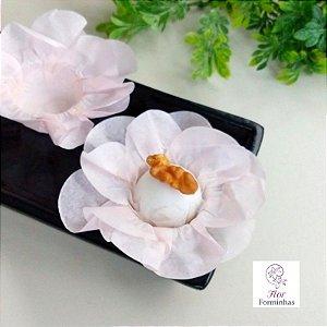 50 Forminhas Flor Primavera Papel Off White F012