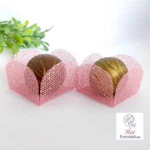 50 Formas para doces - Caixeta Rosa cha -F002