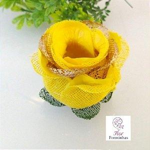 20 Forminhas para doces Flor Botão Rosa Super Luxo - F059