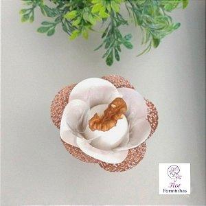 50 Formas para doces Camelia Branco/ Rose Gold - F024