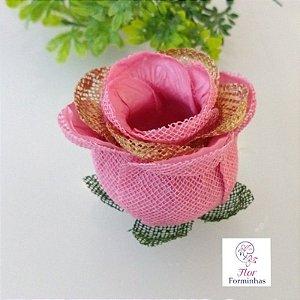 20 Forminhas para doces Flor Botão Rosa Super Luxo Rosê - F059
