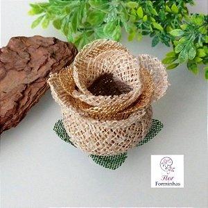 25 Forminhas para doces Flor Botão Rosa Super Luxo - F061