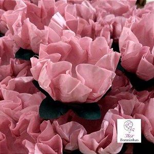 25 Forminhas Flor Gerbera Papel Rosa Seco - F062