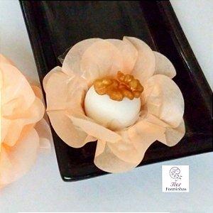 50 Forminhas Flor Primavera Papel Pessego  F012