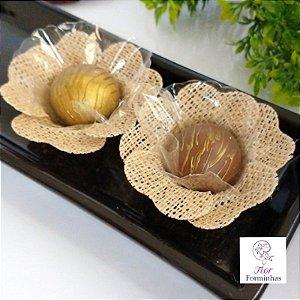 KIT 300 Forminhas Rustica Tradicional Flor Pessego - F013