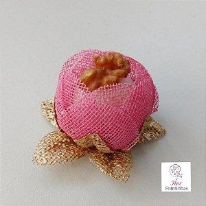 25 Formas para doces - Botão Camelia Rosa cha - F018