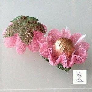 25 Forminhas para doces Gerbera rosa Cha- F065