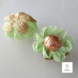 25 Forminhas para doces Gerbera Verde Menta - F065