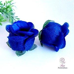 25 Forminhas para doces Flor Botão Rosa - Azul Escuro  F044