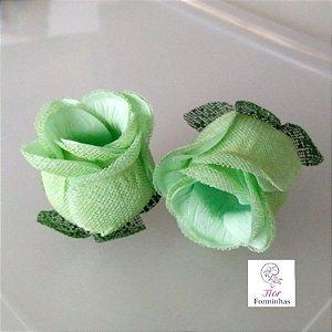 25 Forminhas para doces Flor Botão Rosa - Verde Claro F044