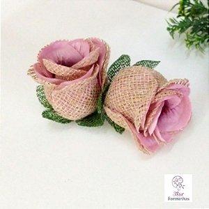 25 Forminhas para doces Flor Botão Rosa Rústico -Rosa Seco - F055