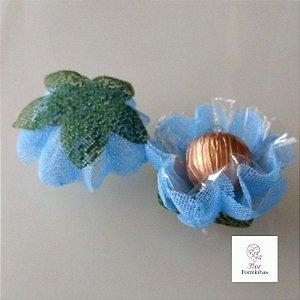 25 Forminhas para doces Gerbera -Azul Bebê - F065