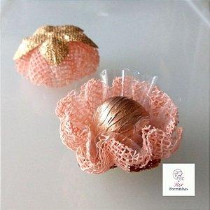 25 Forminhas para doces Gerbera Rustica Rosa Nude - F065