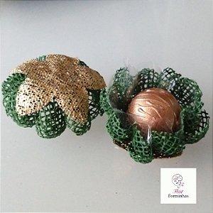 25 Forminhas para doces Gerbera Rustica Verde Floresta - F065
