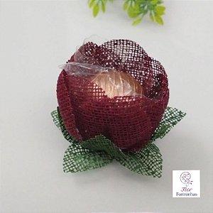 25 Formas para doces - Botão Camelia Marsala - F018