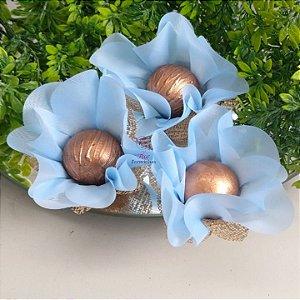 25 Forminhas Flor Primavera Azul BB F016