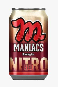 Cerveja Beer Maniacs NITRO RED Lata 350 ml
