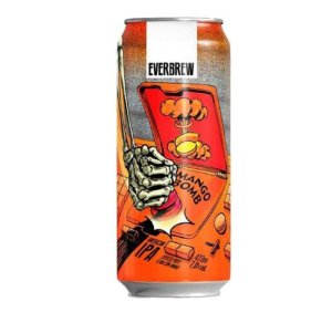 Cerveja Everbrew Mango Bomb - 473 ml - Caixa 6 unidades