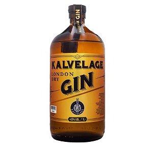 Kalvelage Gin London Dry Gin - 1 L - 43% VOL. - Caixa 6 unidades
