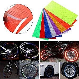 Folha Adesivo Refletivo (Ideal para Bikes e Motos)